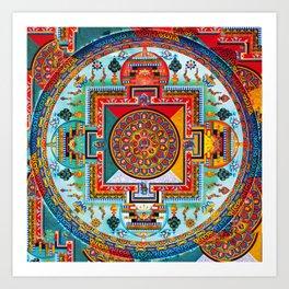 Buddhist Medicine Mandala 2 Art Print