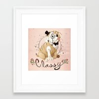classy Framed Art Prints featuring Classy by Jelly and Paul
