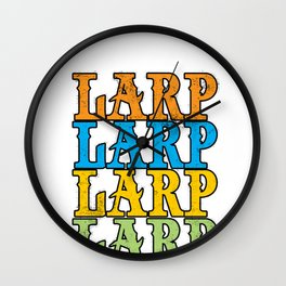 Larping Larper Larp Roleplay Live-Action Real Gift Wall Clock
