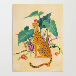 Cheetah and Apples Poster