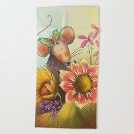 Spring Mouse Beach Towel