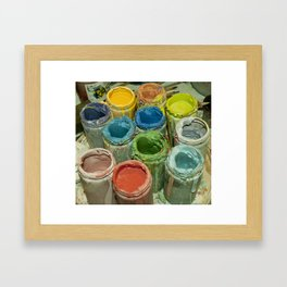 Paint Pots. Framed Art Print