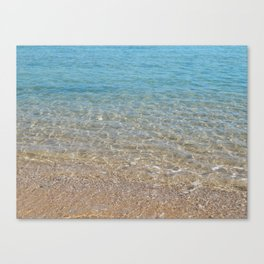 Texture of sea water in the Red Sea of Egypt Canvas Print