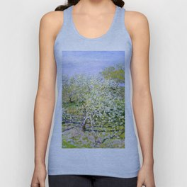 "Claude Monet ""Apple Trees in Bloom"", 1873 Unisex Tank Top"
