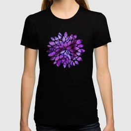 Violet wavy abstract T-shirt