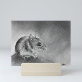 Field Mouse on the Rock Mini Art Print