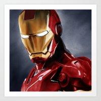 ironman Art Prints featuring IronMan by San Fernandez