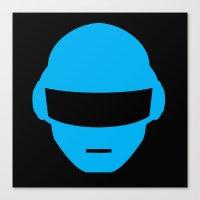 deadmau5 Canvas Prints featuring Daft Punk Thomas Bangalter Helmet by Alli Vanes