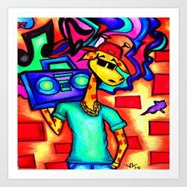 Graffiti Giraffe Art Print