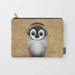 Cute Baby Penguin Dj Wearing Headphones Carry-All Pouch