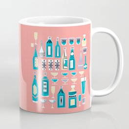 Cocktails And Drinks In Aquas and Pinks Coffee Mug
