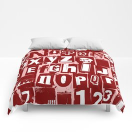 Ransom Letters Comforters