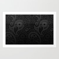 damask Art Prints featuring Damask by Rothko