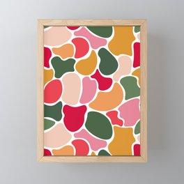 Colourful Blobs - Rainbow Framed Mini Art Print