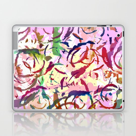 abstract roses silhouettes Laptop & iPad Skin