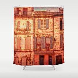 The Old Neighborhood, Rustic Buildings Shower Curtain