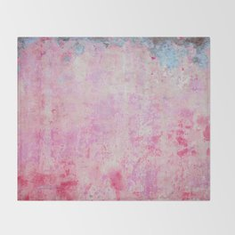 abstract vintage wall texture - pink retro style background Throw Blanket
