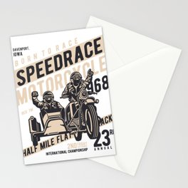 Born To Race Speedrace Motorcycle Stationery Cards