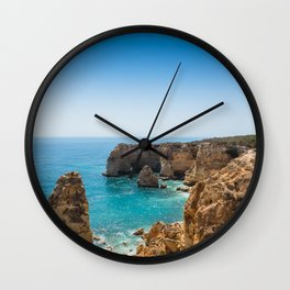 Beach at Lagoa, Algarve, Portugal II Wall Clock