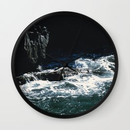 Dark Oceanic Cliff Wall Clock