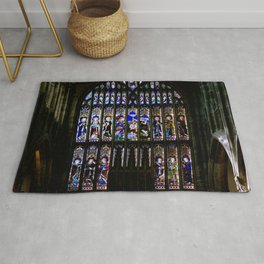 Stained Glass Window Shakespeare's Church Stratford upon Avon England Rug