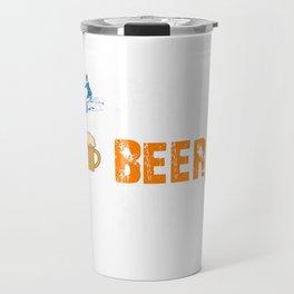 Funny Ski Beer Repeat Skiing & Skiers Travel Mug