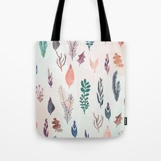 Mix of plants and watercolor leaves Tote Bag