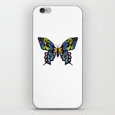 Colorful Abstract Butterfly iPhone & iPod Skin