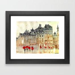 market in Brussels  Framed Art Print
