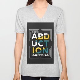 ABDUCTION | UFO Art Unisex V-Neck