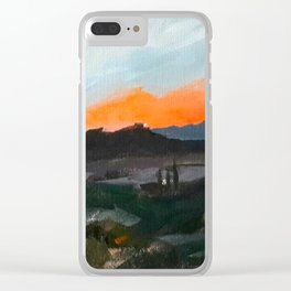 Sunset Over the Superstitions Clear iPhone Case