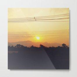 Sunset Sayonara Metal Print