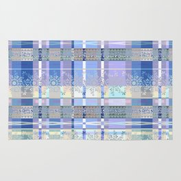 Abstract pattern with lace decorative bands. Rug