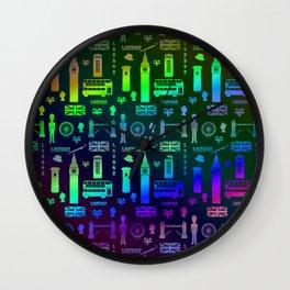 London Landmarks Digital Rainbow Hologram Wall Clock