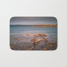 Barnacle covered anchor Bath Mat