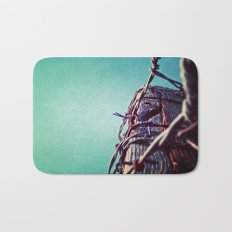 Barbed Wire Blue Bath Mat