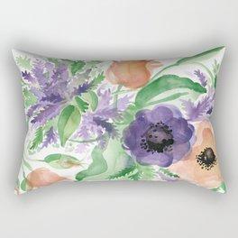 Spring Bouquet - Tulips & Anemones Rectangular Pillow