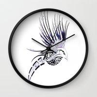 maori Wall Clocks featuring Colibri Maori by Aurélie B