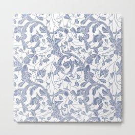 Vintage & Shabby Chic - William Morris Floral  Pattern Metal Print