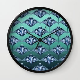 Manta ray - Sapphire Wall Clock