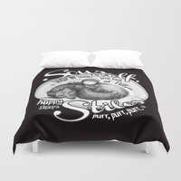 sterek Duvet Covers featuring Sterek Sleepy Wolf & Stiles III by siny
