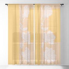 Yellow Rose Sheer Curtain