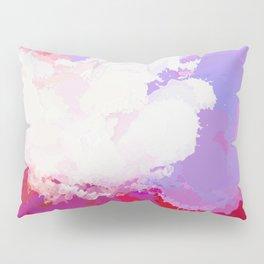 Purple watercolor abstract splatter Pillow Sham