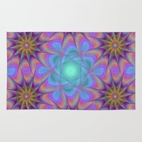 meditation Area & Throw Rugs featuring Meditation by David Zydd - Colorful Mandalas & Abstrac