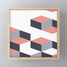 Earth Tones Swiss Graphic Pattern Framed Mini Art Print