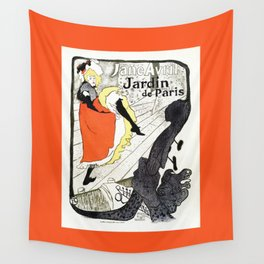 Jane Avril French can-can Jardin de Paris Wall Tapestry