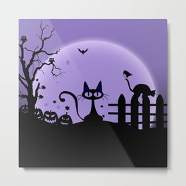 Cat Halloween-Nightmare Metal Print