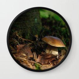 cepe mushroom Wall Clock