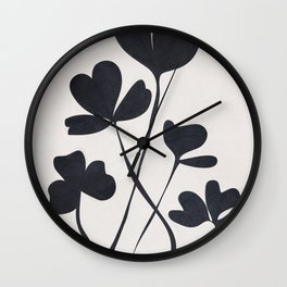 Clover Line Wall Clock