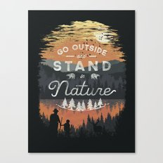 Go Outside and Stand in Nature Canvas Print